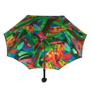 Зонт-трость Pasotti Nero Leaves Capo Black фото-4