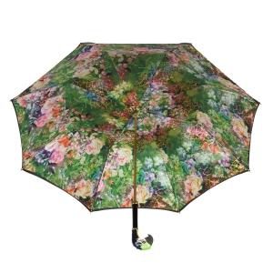 Зонт-трость Pasotti Nero Tropacal Pappagallo Lux фото-3
