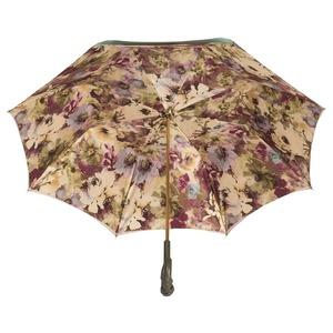 Зонт-трость Pasotti Oliva Fiore Pelle фото-4