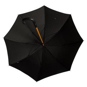Зонт-трость Pasotti Pelle/Legno Strong Black фото-3