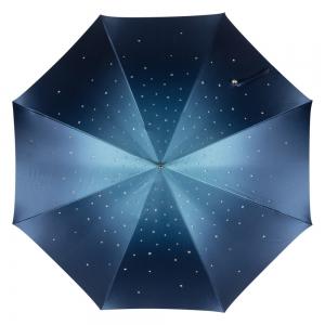 Зонт-трость Pasotti Swarovski Blu Cristall Oro фото-2
