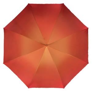 Зонт-трость Pasotti Terracota Paisley Black Pelle фото-2