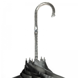 Зонт-трость Pasotti Becolore Georgin Grigio Nickel фото-5