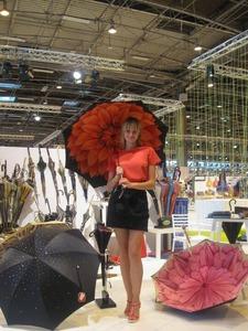 Зонт-трость Pasotti Nero Georgin Rosso Swarovski фото-6