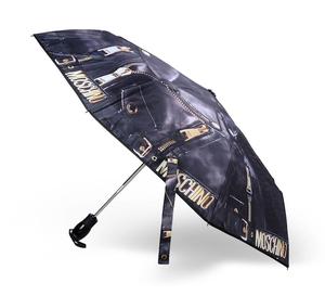 Зонт cкладной Moschino 8200-OCA Biker Jacket Black фото-2