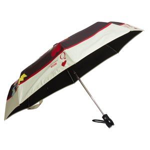 Зонт складной Moschino 7005-OCA Olivia Queen of Hearts Black фото-3