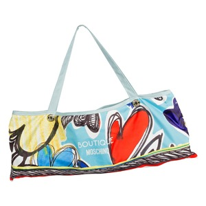 Зонт складной Moschino 7450-OCP Painted Hearts Light Blue фото-5