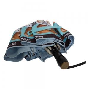 Зонт складной Moschino 8156-OCP Photo Bear Light Blue фото-4