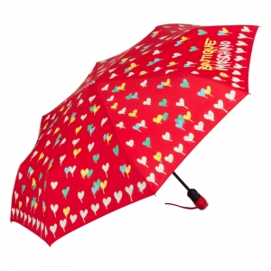 Зонт складной Moschino 7110-OCC Spray Hearts Red фото-2