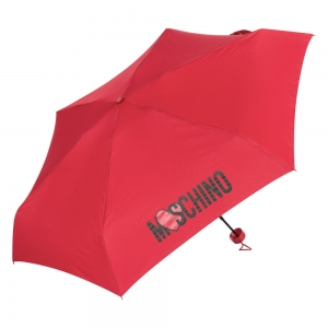 Зонт складной Moschino 8020-SuperrminiС Heart Logo Red фото-2