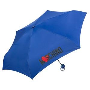 Зонт складной Moschino 8020-SUPERMINIF HEART LOGO BLUE фото-2