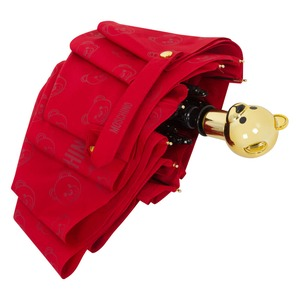 Зонт складной Moschino 8043-OCC Monobear Gold Red фото-5