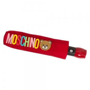 Зонт складной Moschino 8059-OCC Big Bear Circles Red фото-5