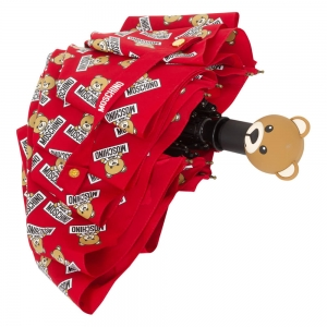 Зонт складной Moschino 8135-OCC Slogan Bear Red фото-3