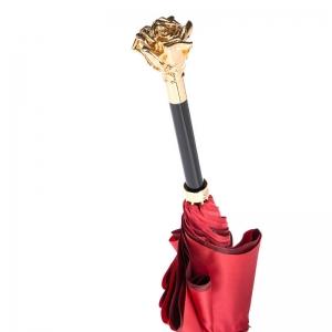 Зонт-трость Pasotti Becolore Rosso Rosa Oro Roza фото-5