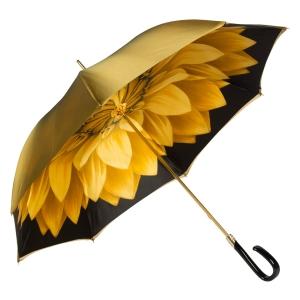 Зонт-трость Pasotti Bicolore Georgin Giallo Plastica Fiore фото-4