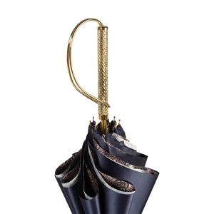 Зонт-трость Pasotti Blu Paisley Brown Rapira Oro фото-5