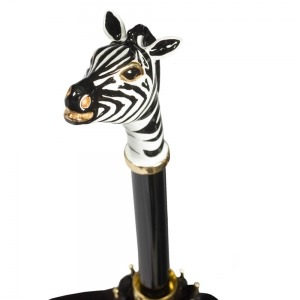 Зонт-Трость Pasotti Nero Africa Zebra Lux  фото-4