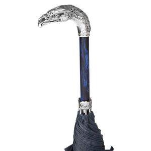 Зонт-трость Pasotti Eagle Silver StripesS Dark Blu фото-5