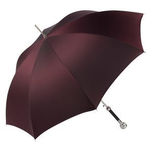 Зонт-трость Pasotti Ferro Silver StripesS Bordo  фото-3