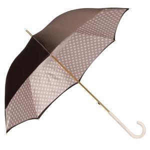 Зонт-трость Pasotti Marrone Pois Ivory Original фото-5