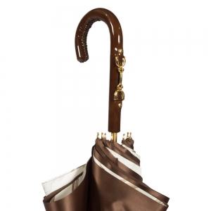 Зонт-трость Pasotti Marrone Rig Vernis фото-4
