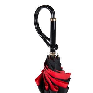 Зонт-трость Pasotti Nero Application Rosso Plastica фото-5