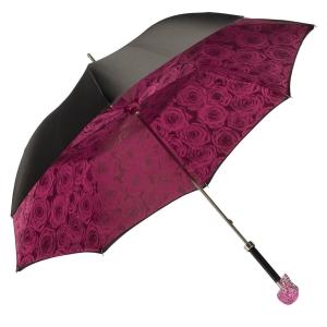Зонт-трость Pasotti Nero Capo Swarovski Fuxia фото-4
