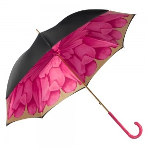 Зонт-трость Pasotti Nero Georgin Rosa Fuxia Original фото-5