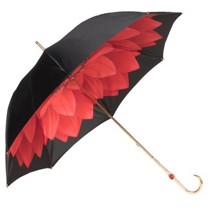 Зонт-трость Pasotti Nero Georgin Rosso Oro фото-5