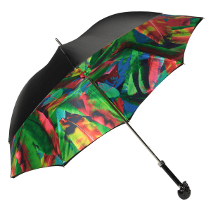 Зонт-трость Pasotti Nero Leaves Capo Black фото-5