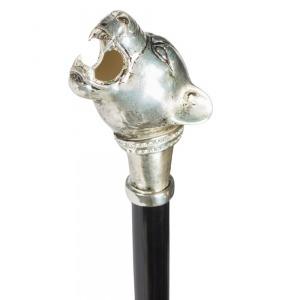 Зонт-трость Pasotti Nero Silver Pantera Lux фото-4