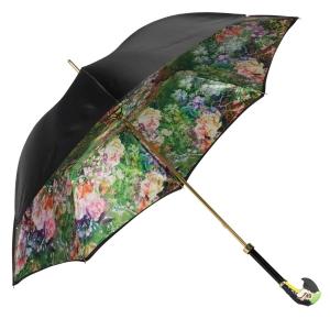 Зонт-трость Pasotti Nero Tropacal Pappagallo Lux фото-4