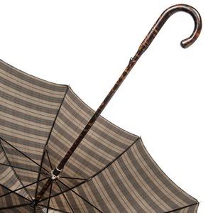 Зонт-трость Pasotti Smocked Hikory Diamond Marrone фото-5