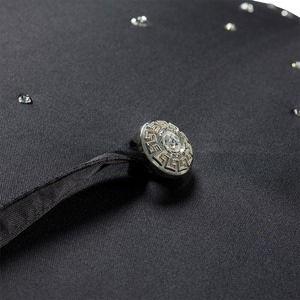 Зонт-трость Pasotti Swarovski Black фото-2