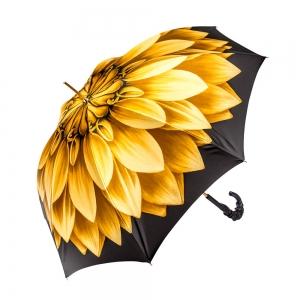 Зонт-трость Pasotti Anzi Georgin Giallo Pelle фото-3