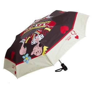 Зонт складной Moschino 7005-OCA Olivia Queen of Hearts Black фото-2