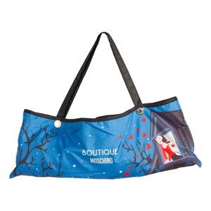 Зонт складной Moschino 7022-OCF Olivia Juliet Blue фото-5