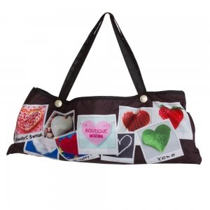 Зонт складной Moschino 7300-OCA Heart Polaroids Black фото-5