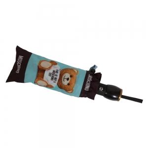 Зонт складной Moschino 8156-OCP Photo Bear Light Blue фото-5