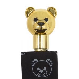Зонт складной Moschino 8043-OCA Monobear Gold Black фото-5