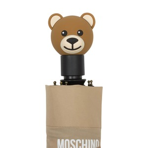 Зонт складной Moschino 8120-OCD Big Bear Letters Dark Beige фото-5