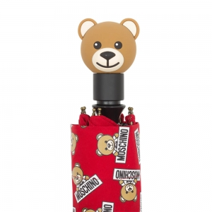 Зонт складной Moschino 8135-OCC Slogan Bear Red фото-5
