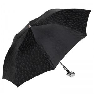 Зонт складной Pasotti Auto Capo Silver Sculls Black фото-2
