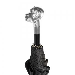Зонт складной Pasotti Auto Labradore Silver Rombes Black фото-4