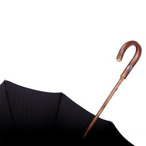Зонт-трость Pasotti Chestnut Di Legno Strong Black фото-5
