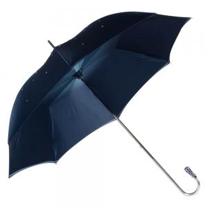 Зонт-трость Pasotti Swarovski Blu Cristall Oro фото-4
