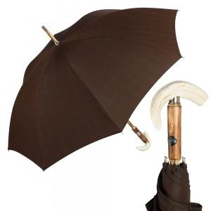 Зонт-трость Pasotti Tooth Milford Marrone фото-1