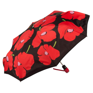 Зонт складной Moschino 7520-OCC Olivia and Poppies Black/Red фото-2