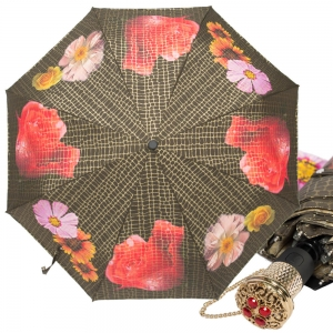 Зонт складной Pasotti Auto Pazzle Black Lux фото-1